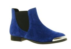 Asos Shellys Brazdova Blue Chelsea Boots