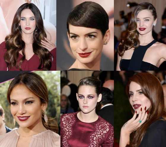 Burdeos - maquillaje