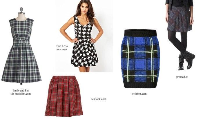 Estampados-cuadros-faldas y vestidos