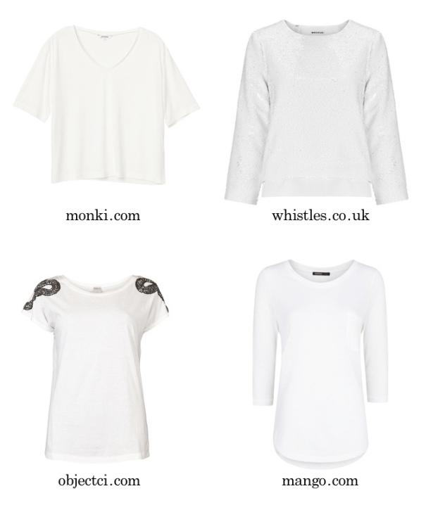 Tshirt-blancos con mangas