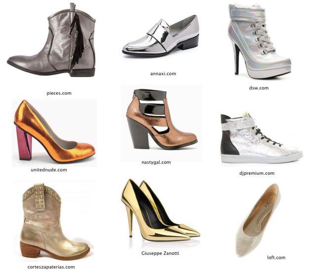 Colores metalicos-zapatos