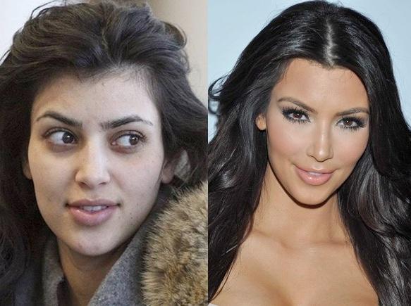Sin maquillaje- Kim Kardashian