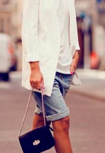 Denim bermudas jeans